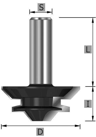 HW-Gehrungs-Verleimfräser Z2 S8 x 45 mm