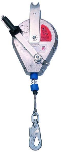 Höhensicherungsgerät Typ HRA mit Rettungshub-, Senkvorrichtung, Seil 12,0 m
