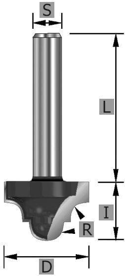 HW-Classic Fräser Z2 S12 x 43 mm