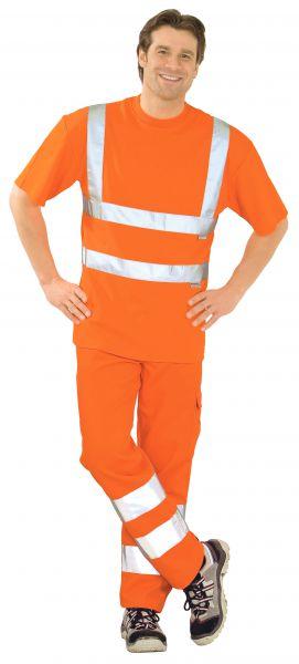 Warnschutz T-Shirt uni orange Gr. S