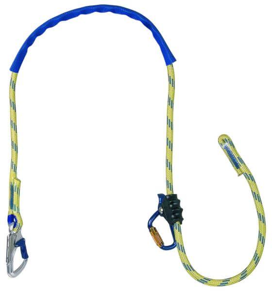 Verbindungsmittel für Haltegurte ASK 8, mit Seil, Karabiner AXK 10, 2,0 m