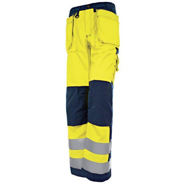 High VIS Damenbundhose 1543 gelb, marineblau Gr. 34