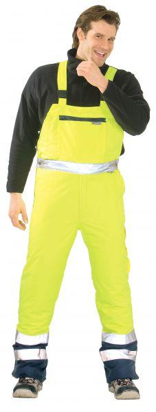 Warnschutz Winter-Latzhose gelb, marine Gr. S