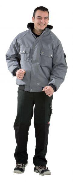 Winter-Blouson CANVAS grau, schwarz Gr. S