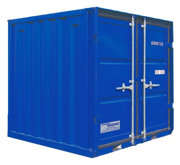 Lagercontainer LC 6', Enzianblau