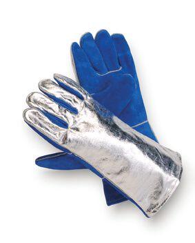 Hitzeschutzhandschuh Sebatanleder, Aluminium, bis 800°C, 5-Finger