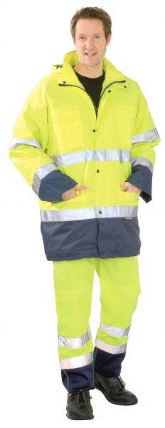 Warnschutz Parka gelb, marine Gr. S