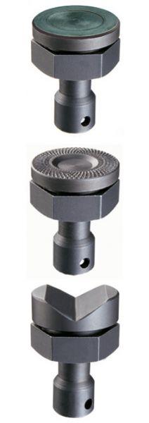 Druckplatte für Hochleistungszwingen mit Riffelung