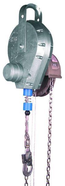 Höhensicherungsgerät mit Rettungshubeinrichtung/Haspelkettenantrieb, Drahtseil 65,0 m