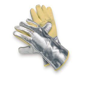 Hitzeschutzhandschuh ARAMID, Aluminium, bis 500°C, 3-Finger