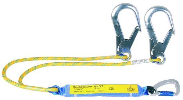 Y-Verbindungsmittel mit BFD, Seil zweisträngig, Karabiner AXS 10 TR, FS 90, 1,5 m