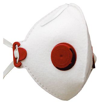 Atemschutzmaske FF P2 D mit Ausatemventil