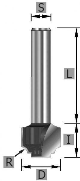 HW-Nutenprofilfräser Z2 S6 x 42 mm