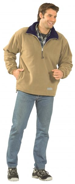 Fleece Troyer Relax camel/marine