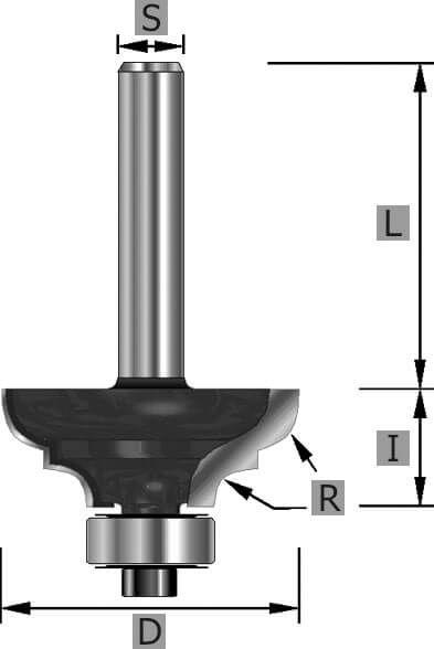 HW-Multiprofilfräser Z2, mit Kugellager, S12 x 58 mm