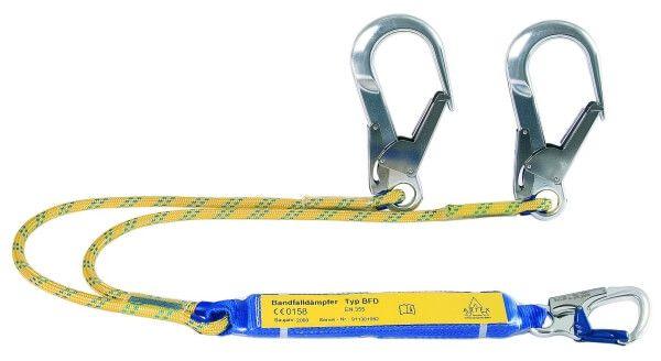 Y-Verbindungsmittel mit BFD, Seil zweisträngig, Karabiner AXK 10, FS 90, 1,5 m