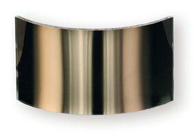 Weitwinkelscheiben 15 x 250 mm, gebogenes Glas goldgedampft, bis 1000°C