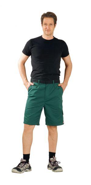 Arbeitsshorts HIGHLINE grün, schwarz, rot Gr. XS