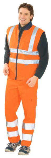Warnschutz Winter-Weste uni orange Gr. S