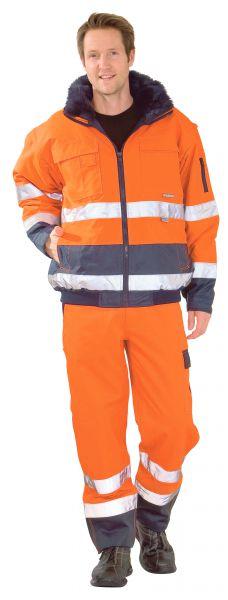 Warnschutz Comfortjacke orange, marine Gr. S