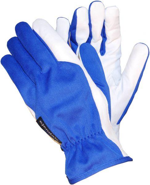 Elektrikerhandschuhe 30 TEGERA Classic, Ziegenleder, Nylon, Kohlenfasern, Gr. 5