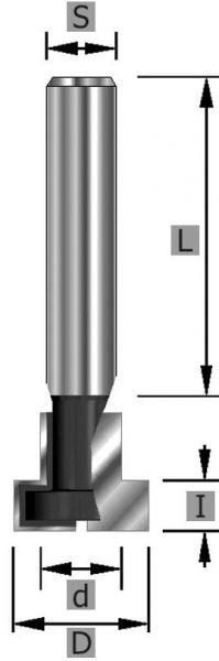 HW-T-Nutfräser Z2 S8 x 9,5 x 45 mm