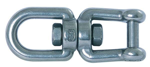 Edelstahl-Schäkel 8 mm mit Wirbel