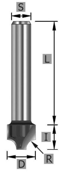 HW-Viertelstabfräser Z2 S8 x 43 mm