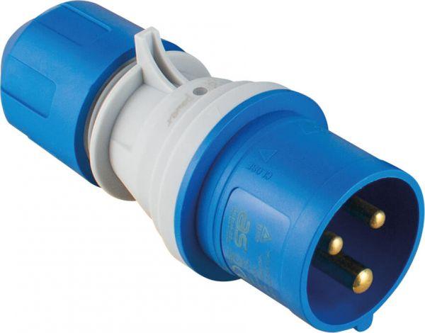 CEE-Stecker 230V/16A, blau powerlight
