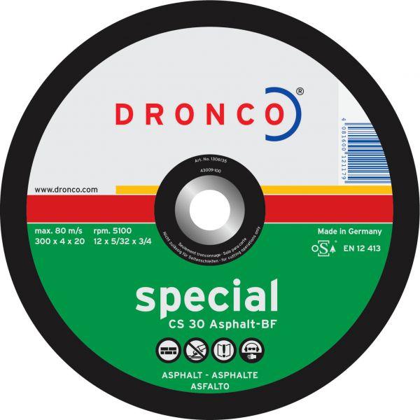 Freihand Trennscheiben Asphalt, Duktil CS 30 special 300 x 4 x 20,0 mm