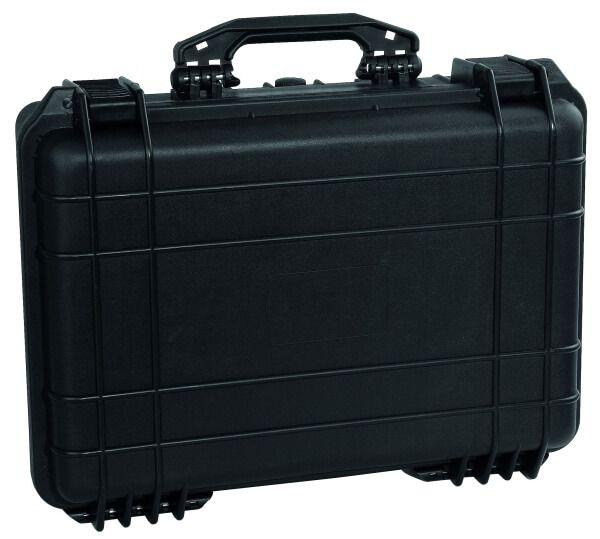 Gerätekoffer aus bruchsicherem Kunststoff, 2 Verschlüsse, 465 x 360 x 175 mm