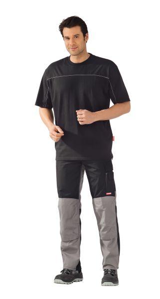 T-Shirt schwarz ,  zink, Größe XS