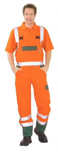 Warnschutz Latzhose orange, grün Gr. 24