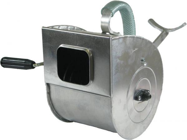 Putzwerfer mit Armstütze / Stahlfederwalze