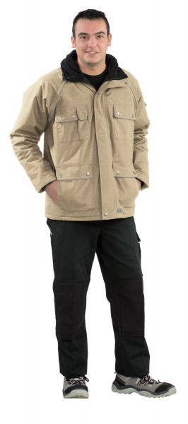 Winter-Parka CANVAS khaki, schwarz Gr. S