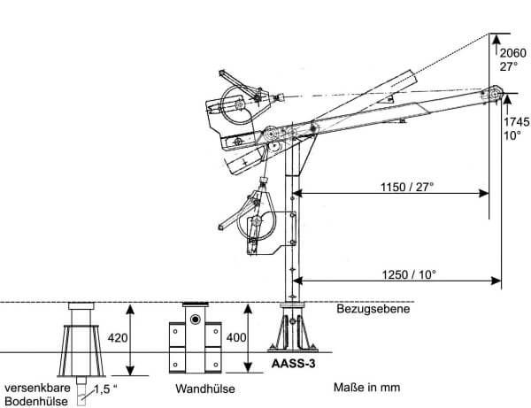 Auslegerarm AASS-3 aus V2A Edelstahl