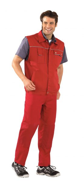 Arbeitsweste CANVAS rot, rot Gr. S