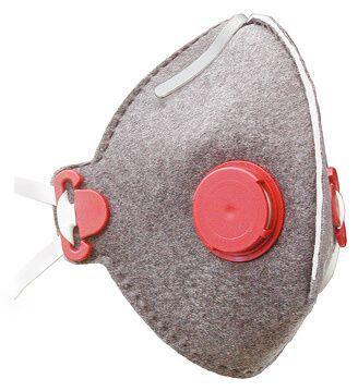 Atemschutzmaske FF P2 combi mit Aktivkohlefilter und Ausatemventil