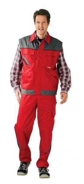 Arbeitsweste HIGHLINE rot, schiefer, schwarz Gr. XS