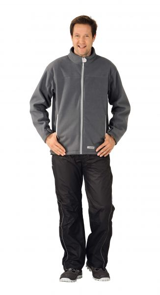 Retro-Fleece Jacke grau Gr. XS