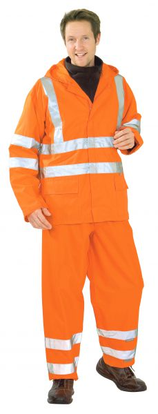 Warnschutz Regenjacke uni orange Gr. S