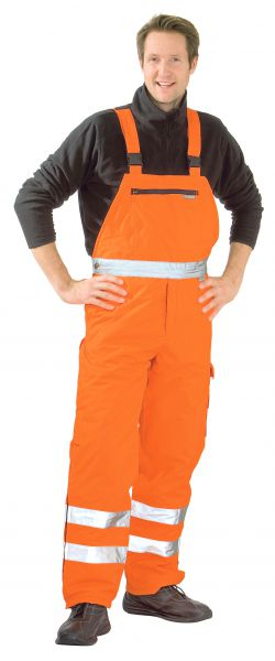 Warnschutz Winter-Latzhose uni orange Gr. S