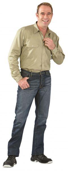 Köper-Hemd 1, 1 Arm khaki Gr. 37, 38