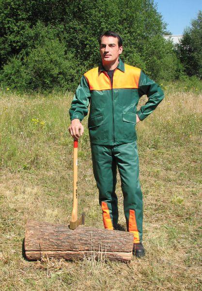 Forstschutz-Jacke Basic grün, leuchtorange Gr. 46