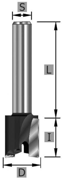 HW-Planfräser Z2 S12 x 19 x 52 mm