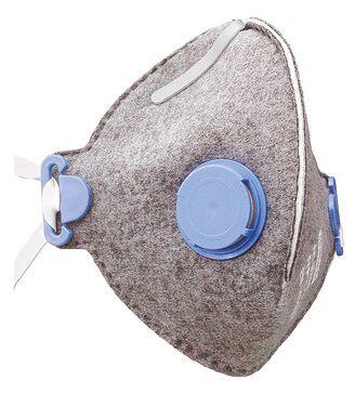 Atemschutzmaske FF P1 NR mit Aktivkohlefilter und Ausatemventil
