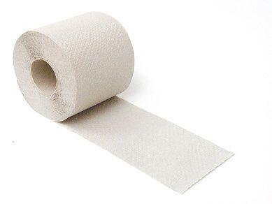Toilettenpapier Krepp 1-lagig, 400 Blatt