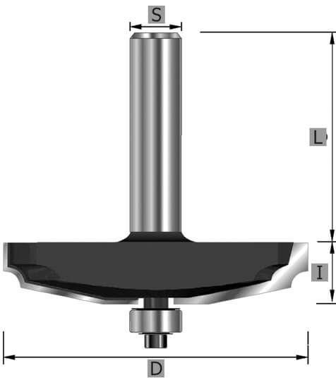 HW-Abplattfräser Z2, 12° schräg, S12 x 71 mm