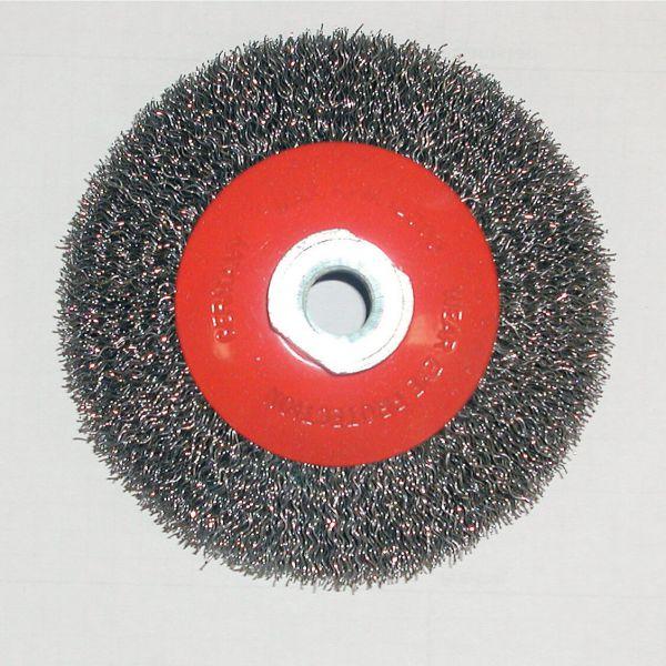 Kegelbürste KBW mit gewelltem Stahldraht 0,3, 100 mm x M14