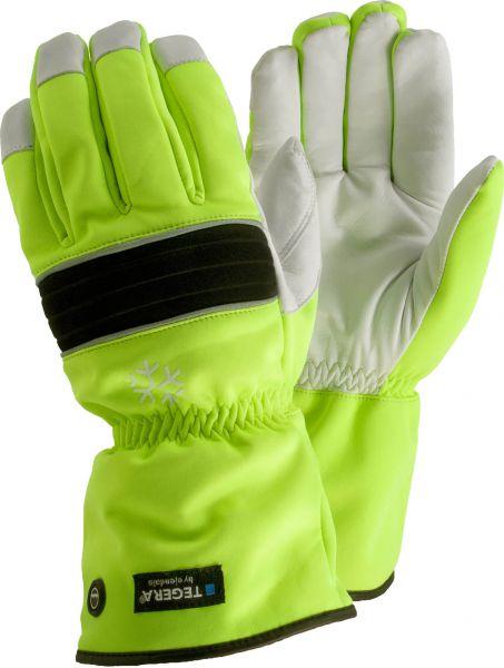 Lederhandschuhe 299 TEGERA® Classic, Rindsleder/Polyester, Warnfarbe, Gr. 9